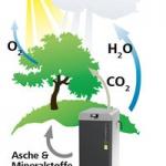CO2 Kreislauf bei der Verbrennung von Holz und Pellets